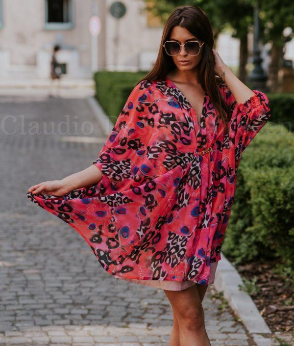 Lux by Dessi 228 párducmintás ruha