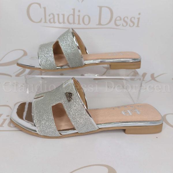 Lux by 036 ezüst papucs
