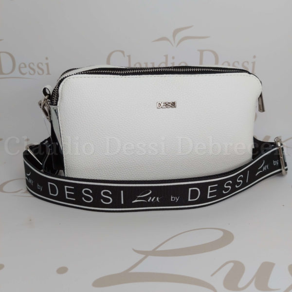 Lux by Dessi 546 fehér-ezüst oldaltáska