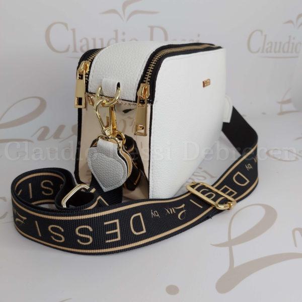 Lux by Dessi 546 fehér-arany oldaltáska