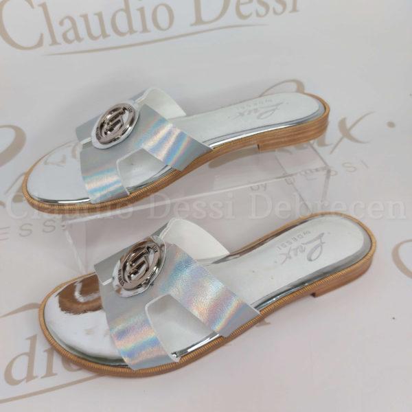 Lux by Dessi 8407 ezüst neon papucs