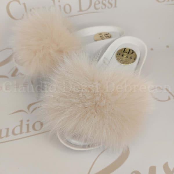 Lux by Dessi 495 fehér papucs