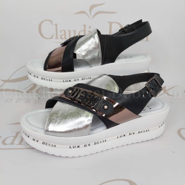 Lux by Dessi 4403-22 fekete-ezüst szanda