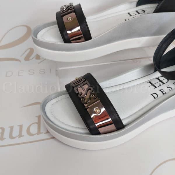 Lux by Dessi 1309-7E fekete szanda