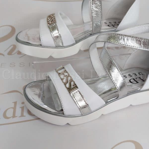 Lux by Dessi 09/1 fehér-ezüst szanda