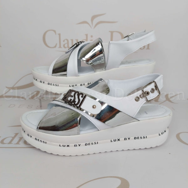 Lux by Dessi 4403-22 fehér-ezüst szanda