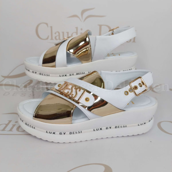 Lux by Dessi 4403-22 fehér-arany szanda