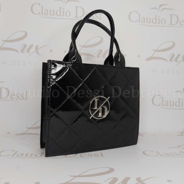 Lux by Dessi 595 fekete lakk kistáska