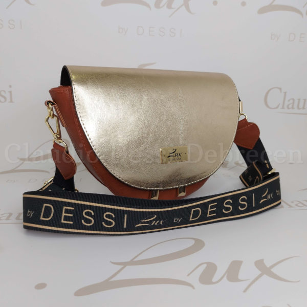 Lux by Dessi 483 arany-barna oldaltáska