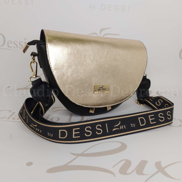 Lux by Dessi 483 fekete-arany oldaltáska