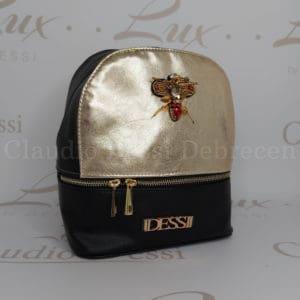 Lux by Dessi 514 fekete-arany hátitáska