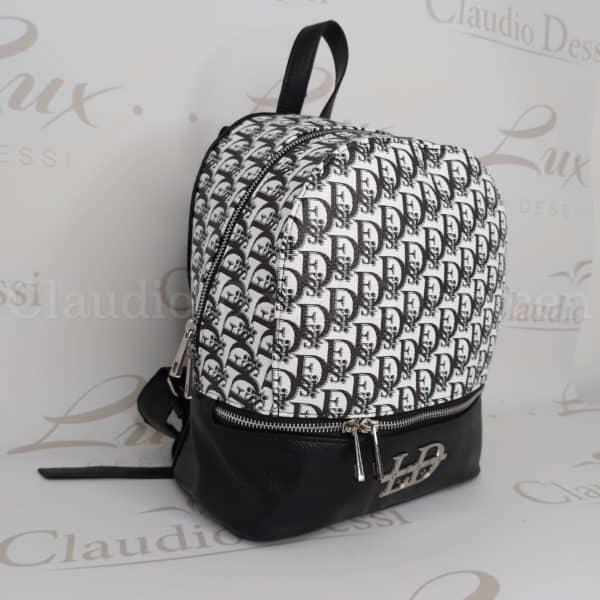 Lux by Dessi 493 fekete-fehér hátitáska