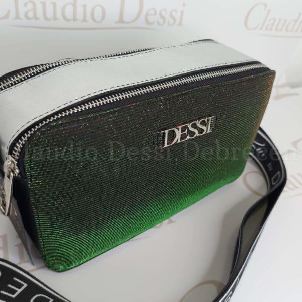 Lux by Dessi 529 zöld színjátszós oldaltáska