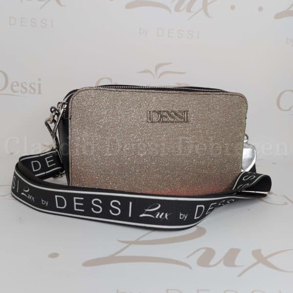 Lux by Dessi 529 ezüst színjátszós oldaltáska