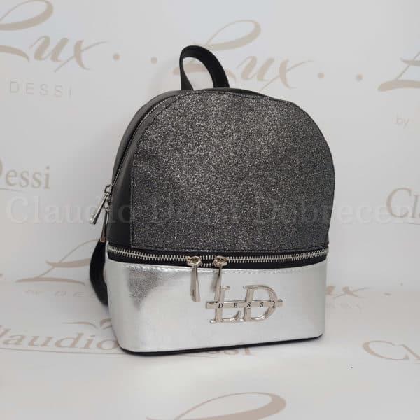 Lux by Dessi 514 fekete-ezüst hátitáska