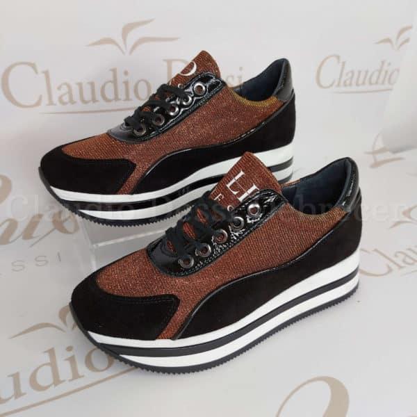 Lux by Dessi 00694-17 bronz színjátszós sneaker