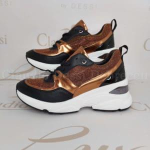 Lux by Dessi 0093-49 bronz színjátszós sneaker