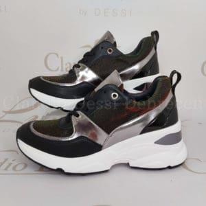 Lux by Dessi 0093-49 zöld színjátszós sneaker
