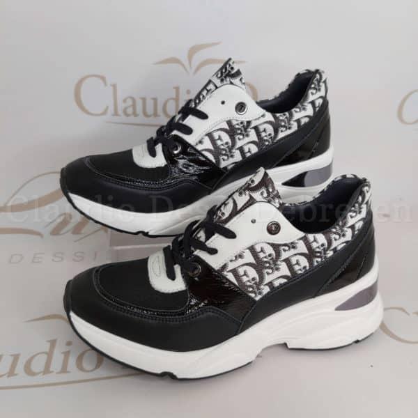 Lux by Dessi 0093-49 fekete-fehér sneaker