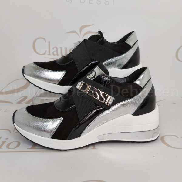 Lux by Dessi m54 fekete-ezüst slipon
