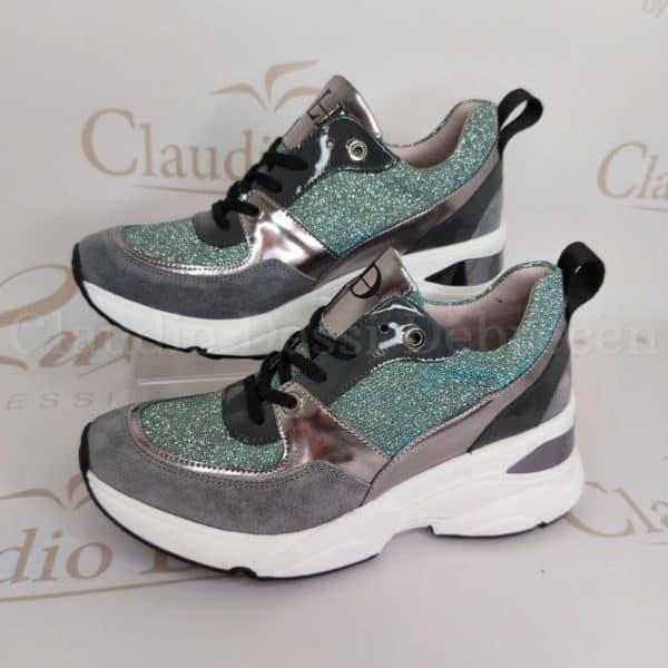 Lux by Dessi 0093-49 kék színjátszós sneaker