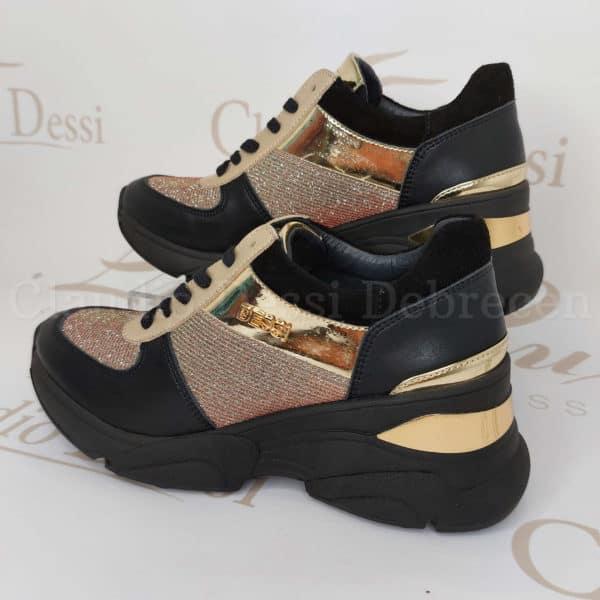 Lux by Dessi 0093-44 pirosF színjátszós sneaker