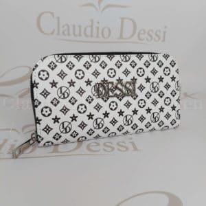Lux by Dessi P-1 fekete-fehér pénztárca