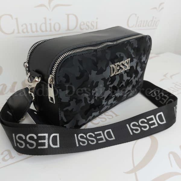 Lux by Dessi 546 fekete terepmintás oldaltáska
