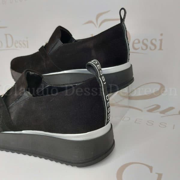 Lux by Dessi 969-BL fekete slipon