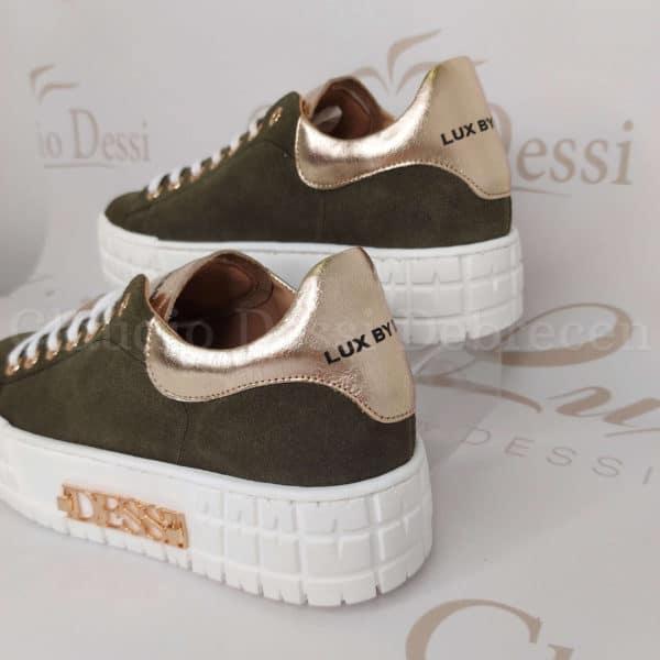 Lux by Dessi Hanza-1 khaki sneaker