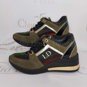 Lux by Dessi 0093-34 zöld sneaker