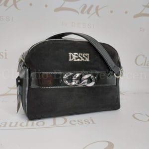 Lux by Dessi 566/1 fekete velúr kistáska