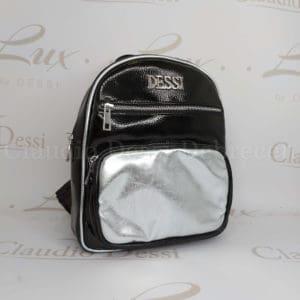 Lux by Dessi 561 fekete-ezüst hátitáska